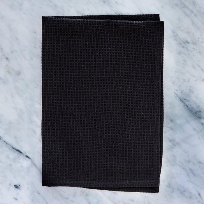 Honeycomb Black Pique Kitchen Towel
