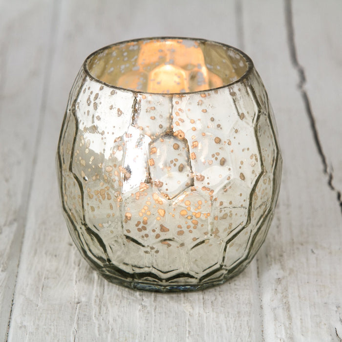 Honeycomb Mercury Glass Votive