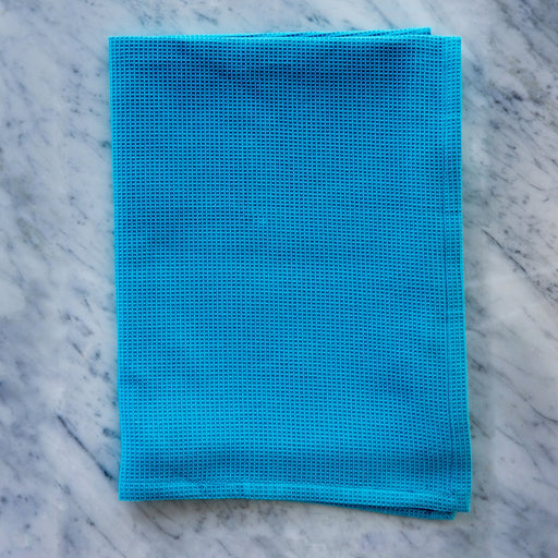 Honeycomb Turquoise Pique Kitchen Towel