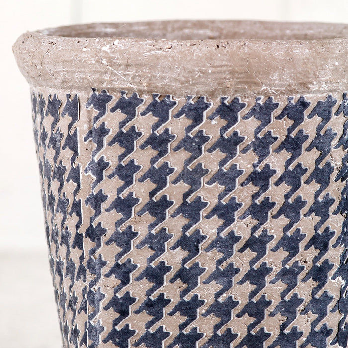 "Houndstooth Pot (4.75"" h)"