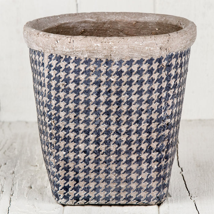 "Houndstooth Pot (6.5"" h)"