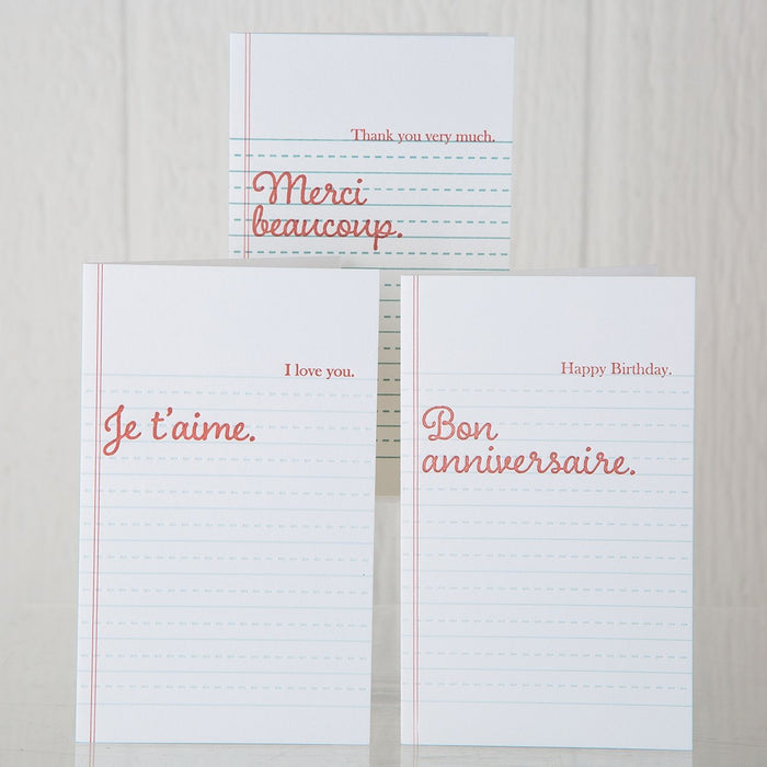 I Love You Notebook Greeting Card