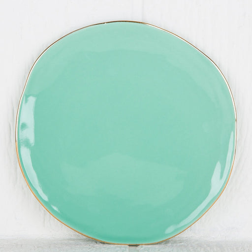 Imperfect Turquoise Plate