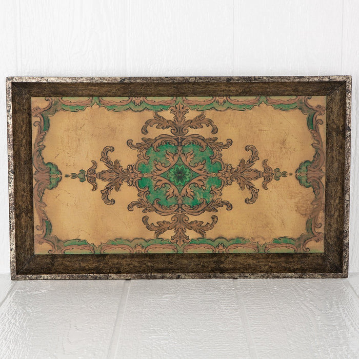 Imperial Painted Wood Tray