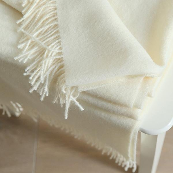 Ivory Baby Alpaca Bella Throw Blanket