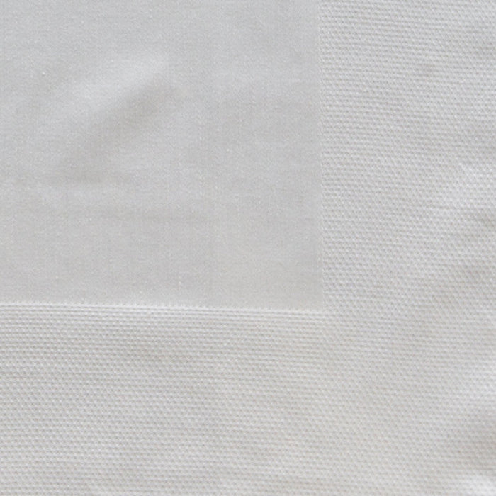"Ivory Damask Waffle Bordered 100% Cotton Napkin (20"")"