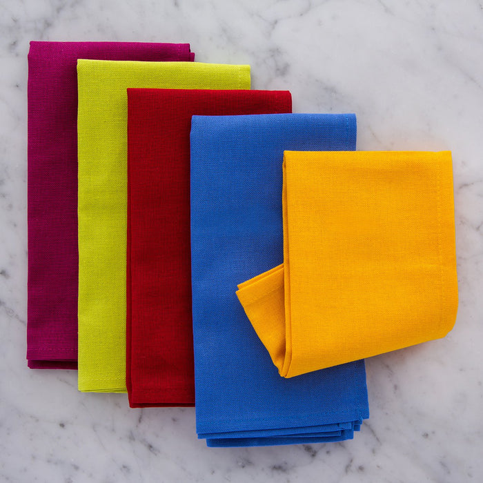 "Jaune / Yellow Cotton Single Stitch Napkin (17"")"