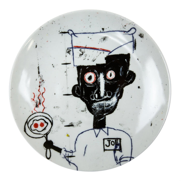 "Jean-Michel Basquiat ""Eyes & Eggs"" Porcelain Plate (8.23""⌀)"