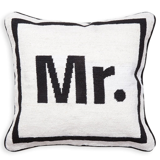 Jonathan Adler Mr. Needlepoint Pillow