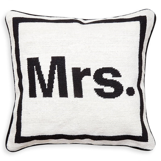 Jonathan Adler Mrs. Needlepoint Pillow