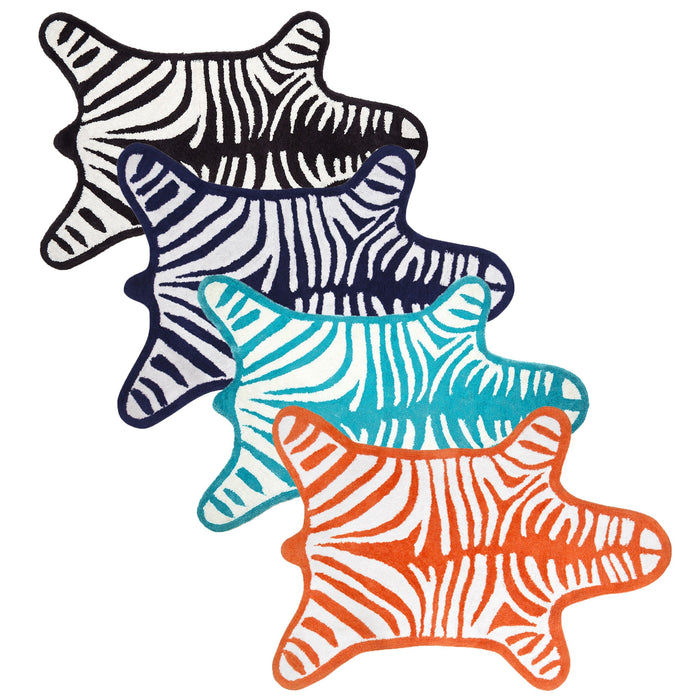 Jonathan Adler Orange Zebra Bathmat