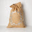 "Jute Drawstring Gift Bag with Pom Poms - Wreath (28"" h)"