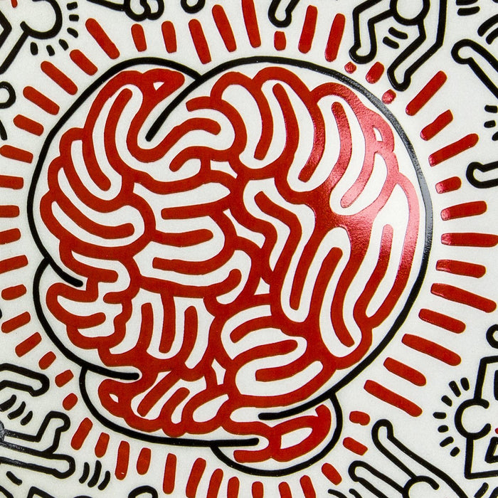 "Keith Haring ""Untitled""Porcel ain Plate (8.23""⌀)"