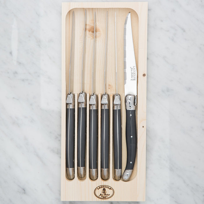 Laguiole Grey Steak Knife Set (6 piece)