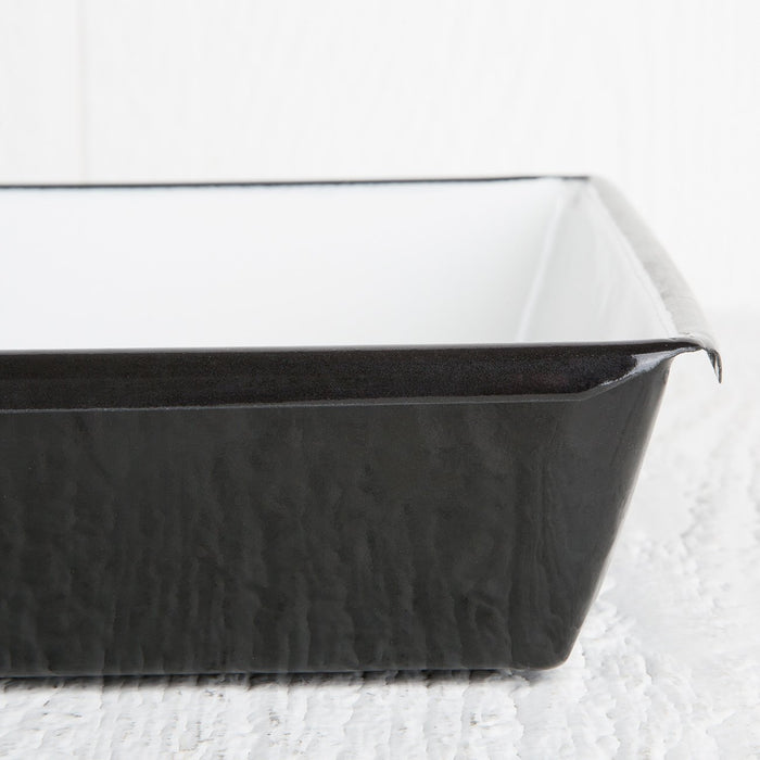Large Black Decorative Metal Tray