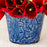 "Large Blue Floral Planter (4.875"" h)"