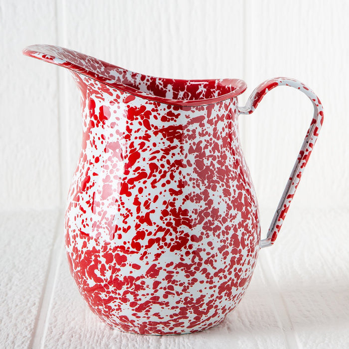 Large Enamelware Pitcher (Red)