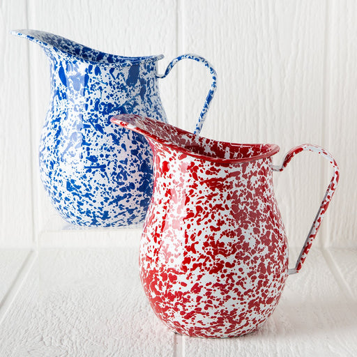 Large Enamelware Pitchers