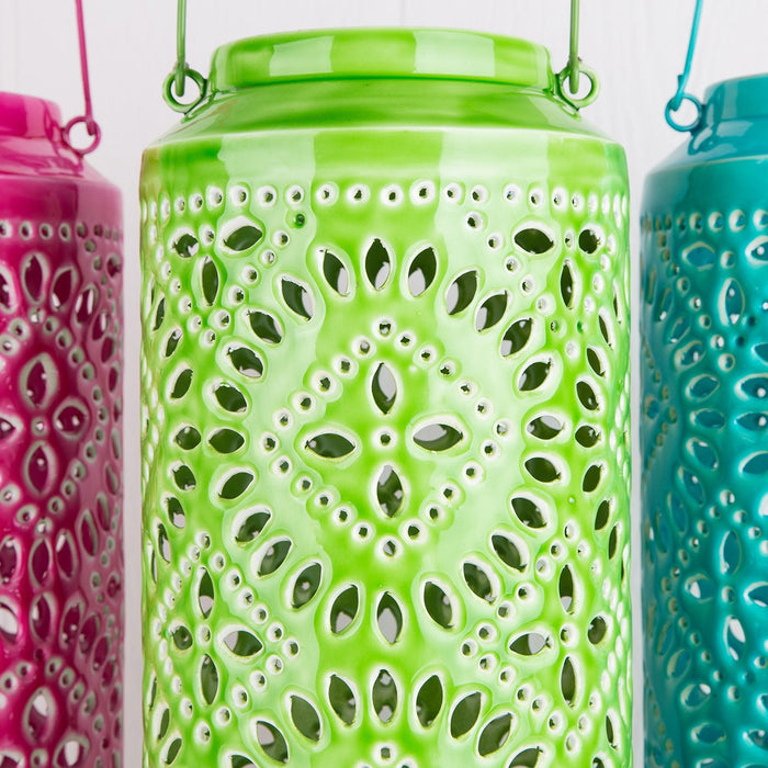 Large Green Ankara Lantern