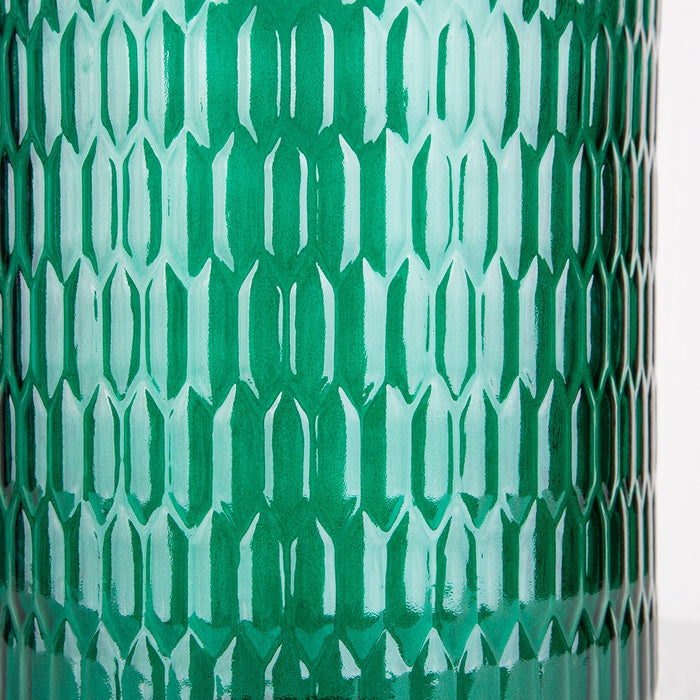 Large Green Glass Lantern