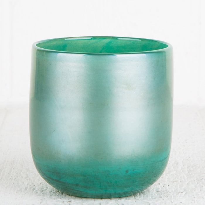 Large Green Glass Votive