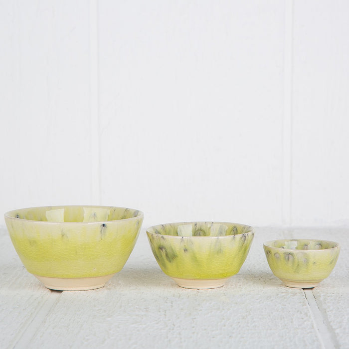 Large Green Maderia Spice Bowl