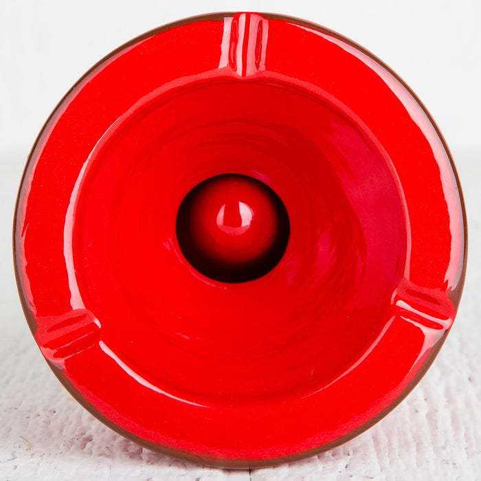 Large Handmade Red Ashtray