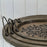 Large Oval Distressed Arabesque Serving Tray