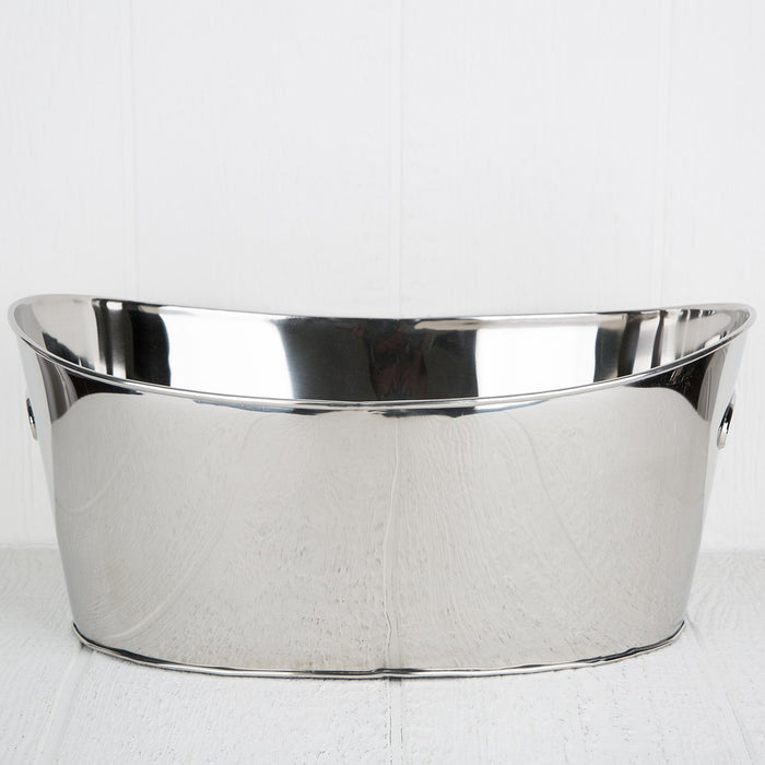 Large Reflective Metal Champagne Bucket