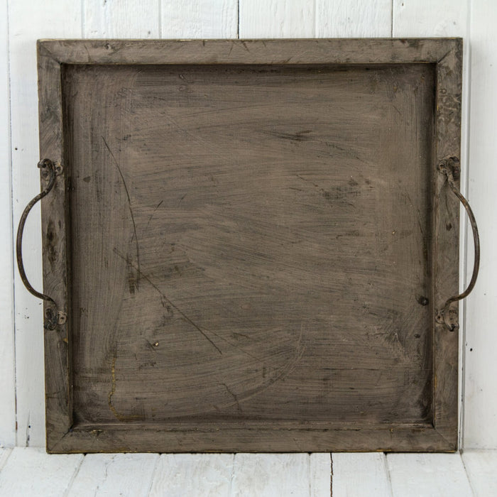 Large Square Distressed Wood Serving Tray