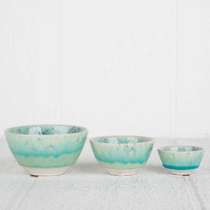 Large Turquoise Maderia Spice Bowl