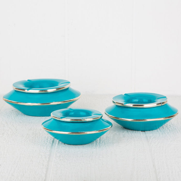 Large Turquoise Tadel Ashtray