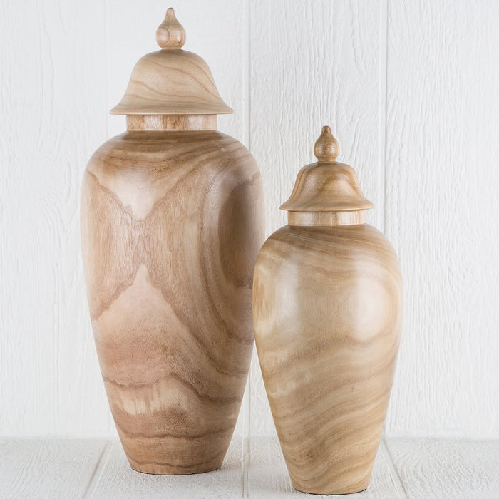 Large Wood Jar