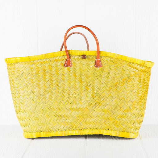 Large Yellow Market Basket
