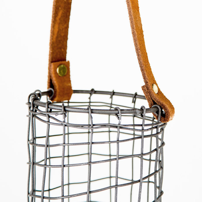 Leather Handled Wire Caddy