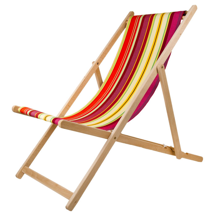 Les Toiles Du Soleil Ceret Cerise Deck Chair