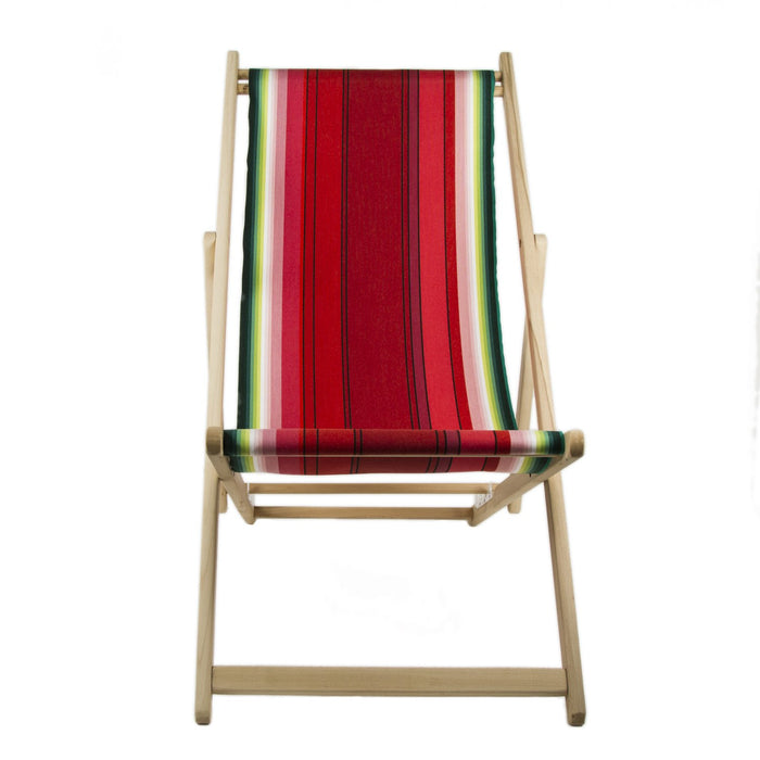 Les Toiles Du Soleil Pasteque French Deck Chair