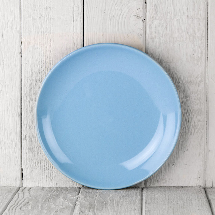 "Light Blue Ceramic Alfa Dessert Plate (8.5""⌀)"