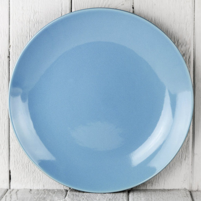 "Light Blue Ceramic Alfa Dinner Plate (10.5""⌀)"