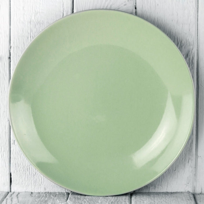 "Light Green Ceramic Alfa Dinner Plate (10.5""⌀)"
