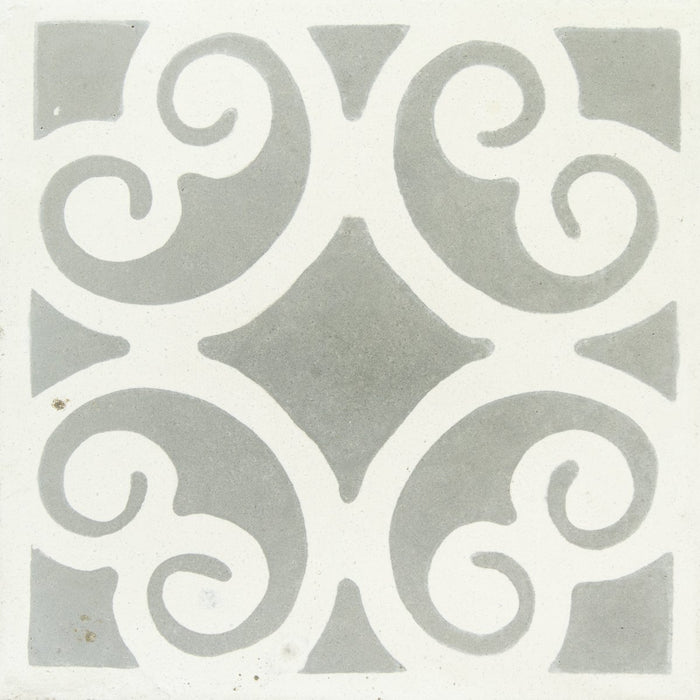 "Light Grey & White Siracusa Carocim Tile (8"" x 8"") (pack of 12)"