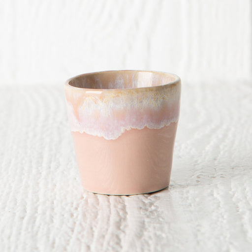 Light Pink Stoneware 2oz Mini Expresso Cup