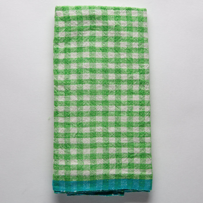 Lime Checked Gingham Tea Towel