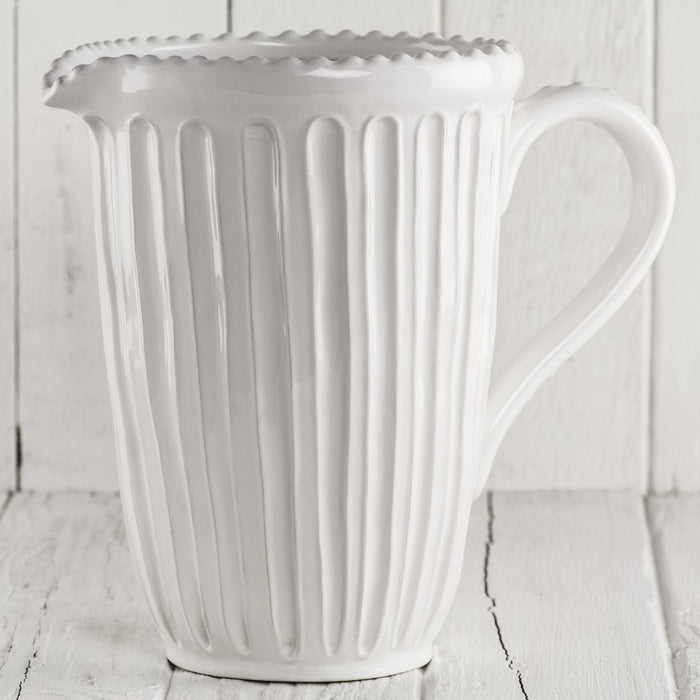 Linge White Pitcher