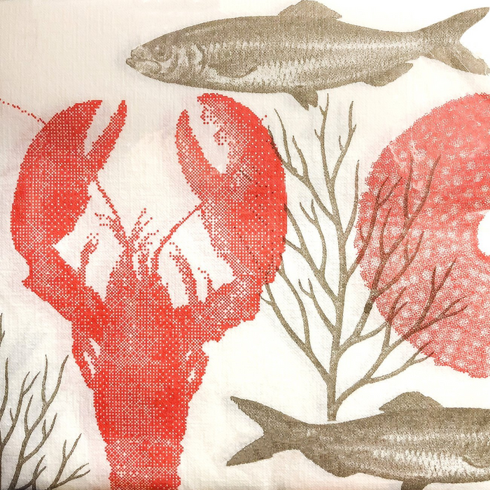 "Lobster Paper Napkins (8"")"