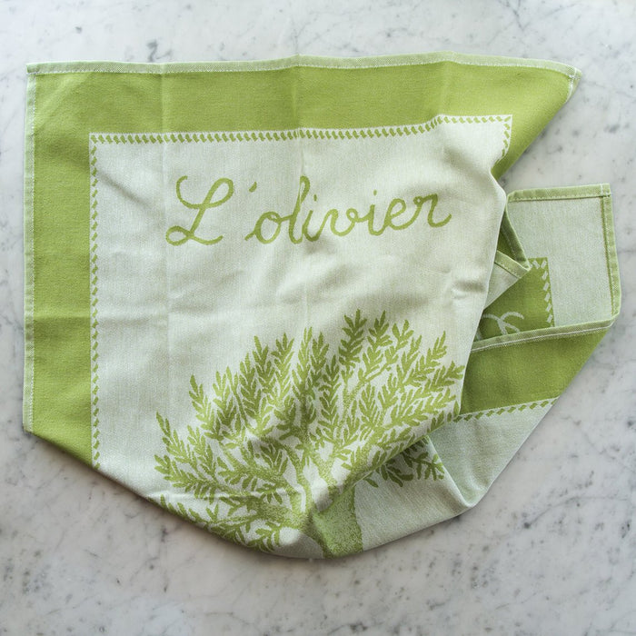 L'Olivier de Provence 100% Cotton Jacquard Tea Towel