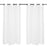 "Loose-Knit White Porto Curtains (47"" x 110"")"