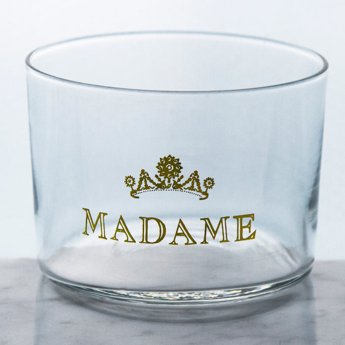 Madame & Monsieur Glass Wine Tumblers (6oz)