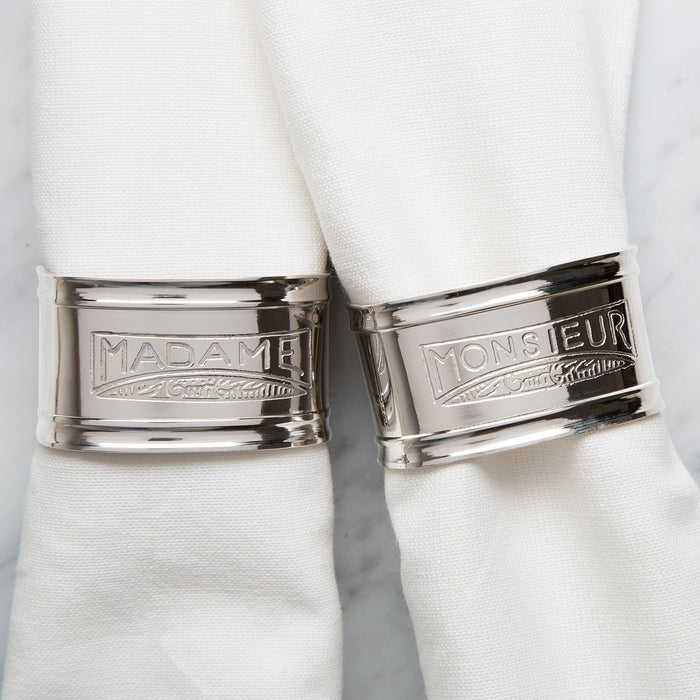 Madame And Monsieur Napkin Rings