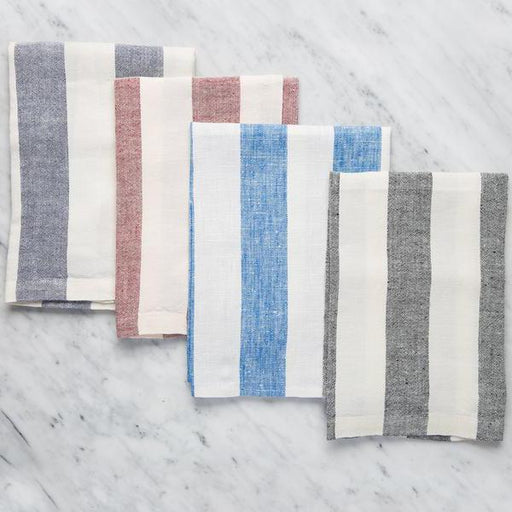 "Maison Midi's Striped 100% Linen Napkins (20"")"